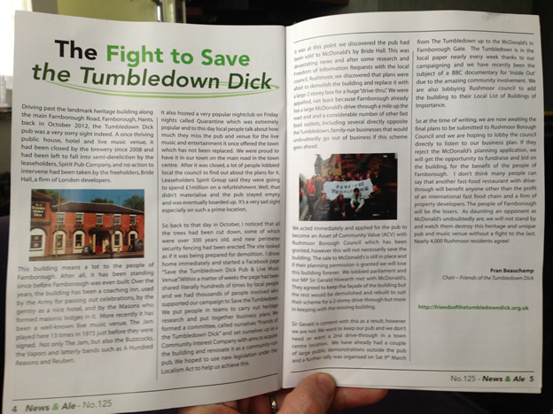 CAMRA's News and Ale - Fight to Save the Tumbledown