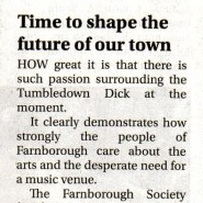 Farnborough Society Letter on the Tumble Down Dick