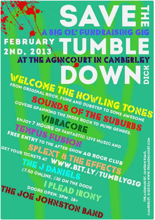 Save The Tumbly fund -raiser gig